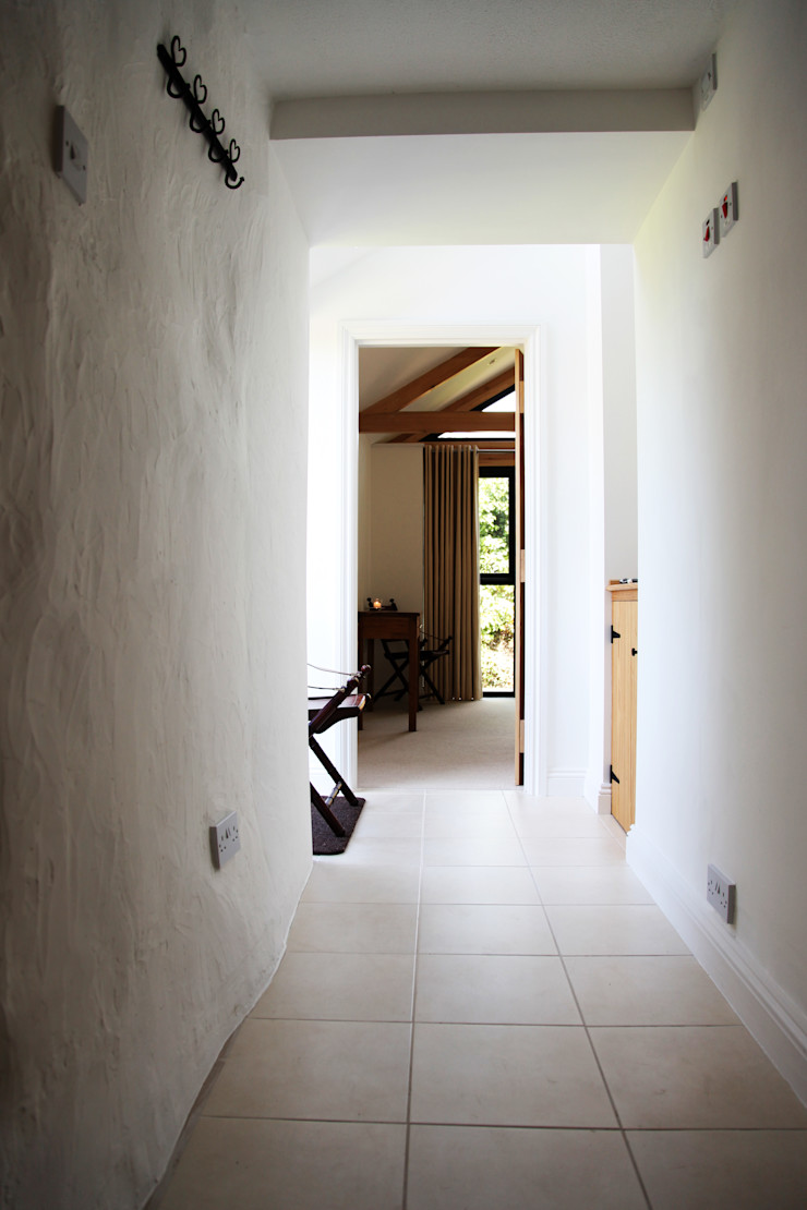 Skyber Barn Innes Architects Rustic style corridor, hallway & stairs