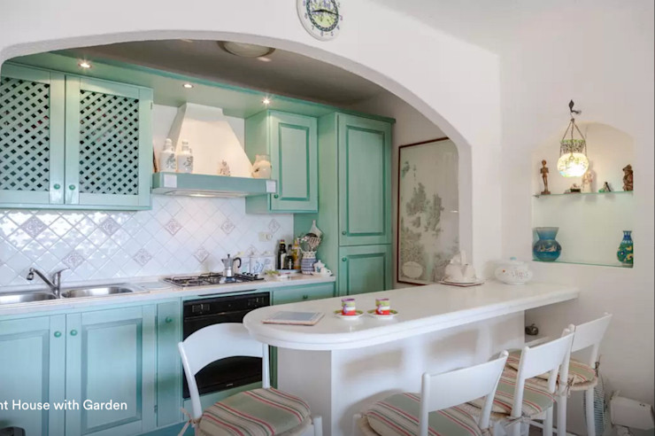 Tania Mariani Architecture & Interiors Cocinas mediterráneas Madera Turquesa