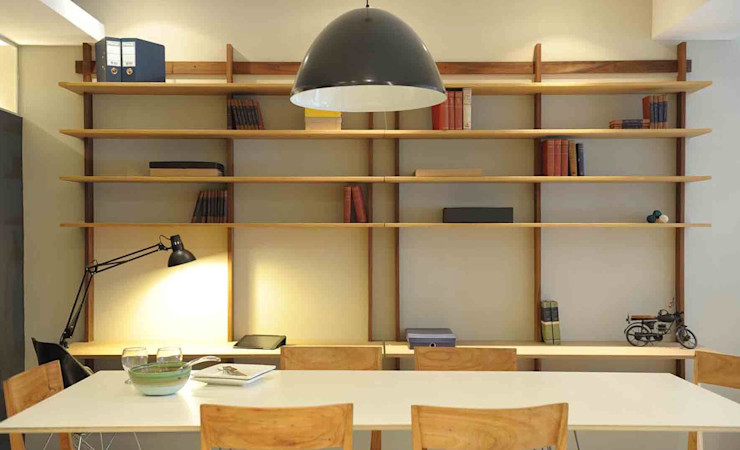 Arquitecto Alejandro Sticotti Studeerkamer/kantoorKasten & planken