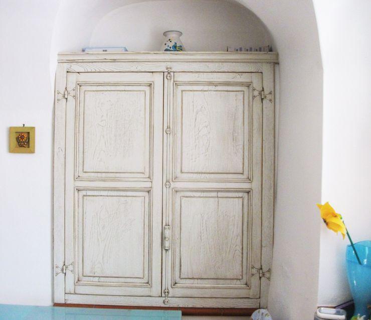 contenitori e piccoli armadi Falegnameria Martinelli Sergio CucinaArmadietti & Scaffali Legno Bianco
