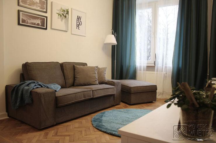 Koncepcja Wnętrz Modern Living Room Grey