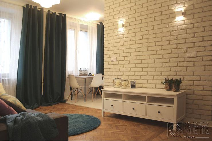 Koncepcja Wnętrz Modern Living Room Turquoise