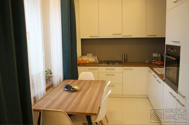 Koncepcja Wnętrz Modern Kitchen White