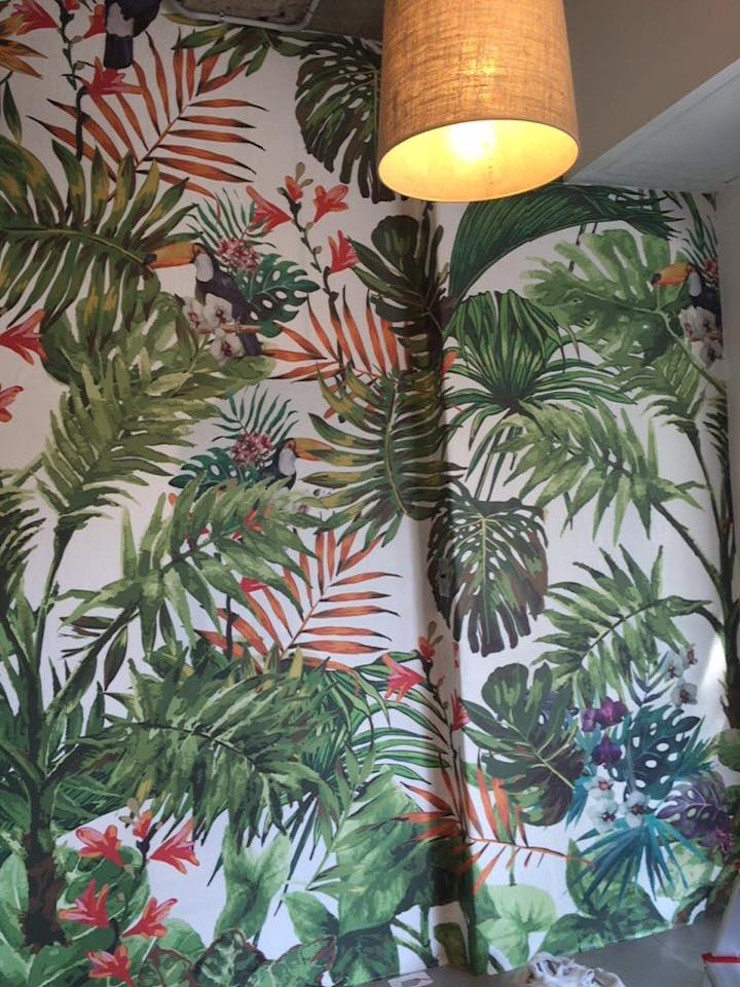 Bonita Casa Murs & SolsPapier peint Papier Vert