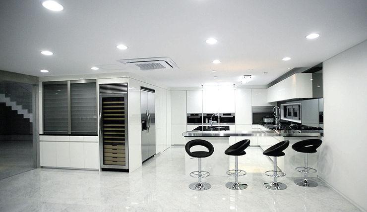 엔디하임 - ndhaim Modern dining room Grey