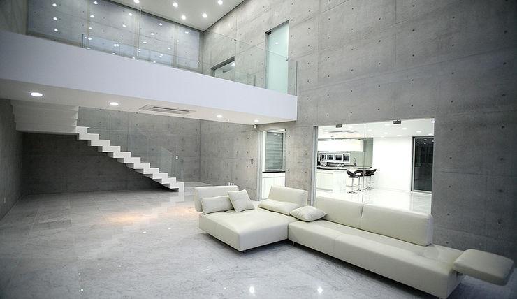엔디하임 - ndhaim Modern living room Grey