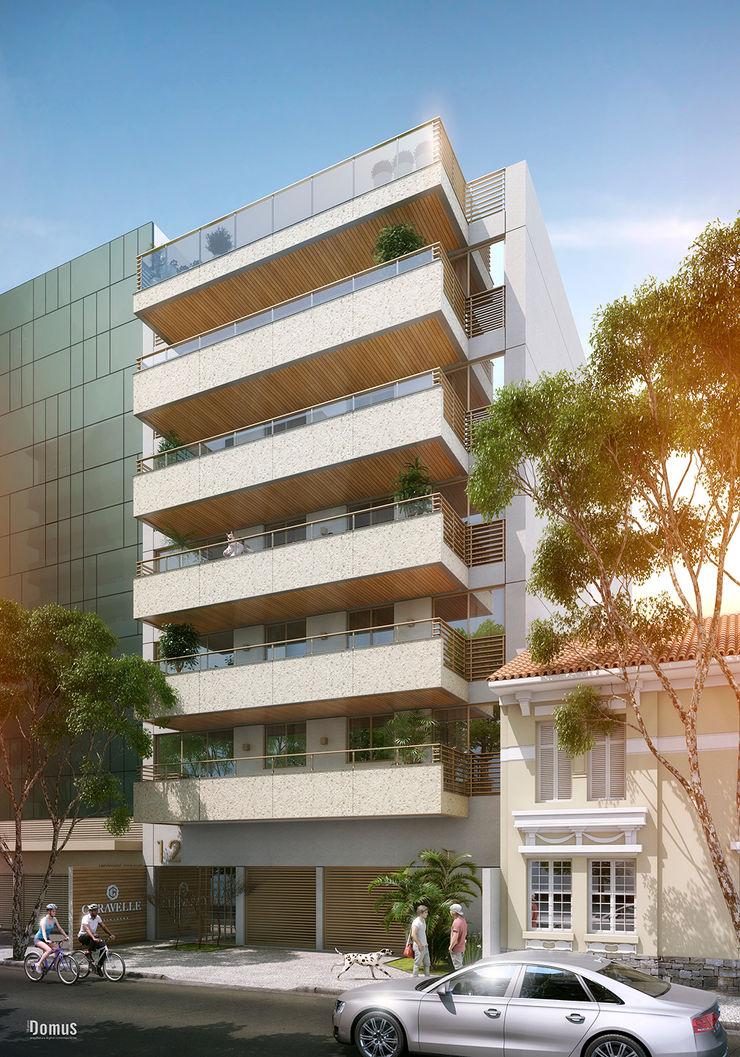 EDIFÍCIO CARAVELLE | Fachada Tato Bittencourt Arquitetos Associados Casas modernas