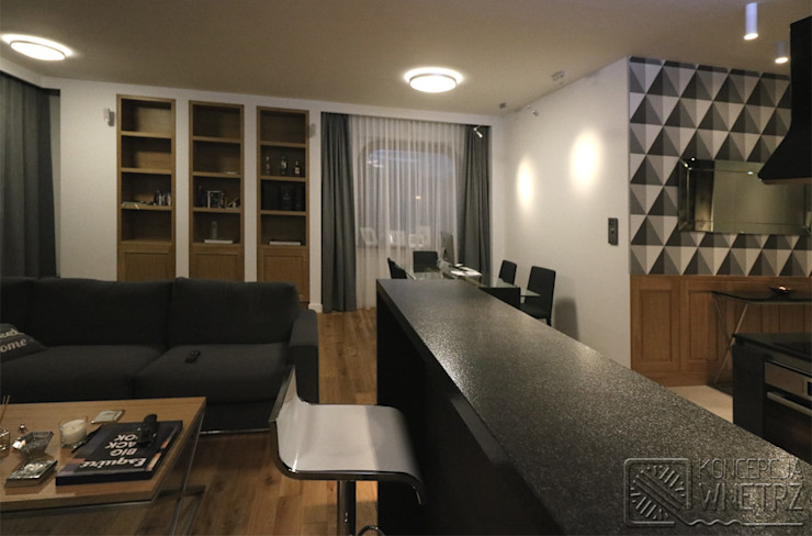 Koncepcja Wnętrz Modern Living Room