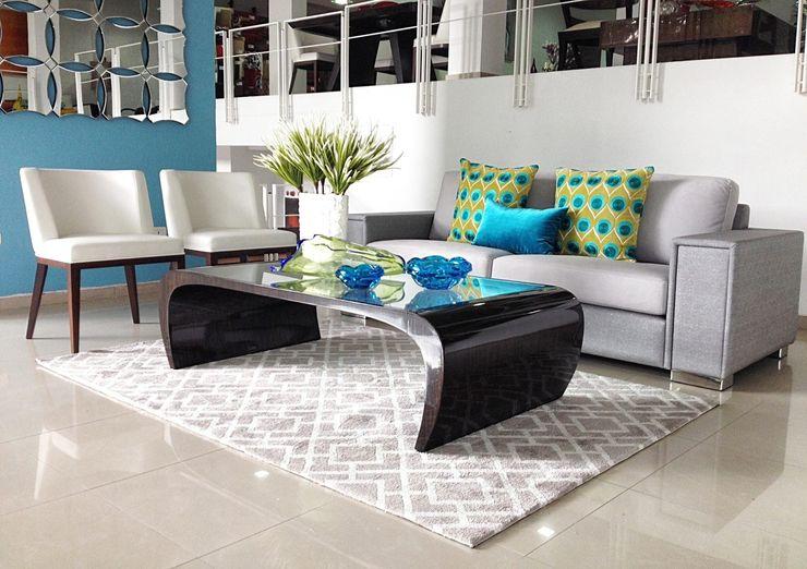 DISEÑO INTERIOR LTDA 现代客厅設計點子、靈感 & 圖片