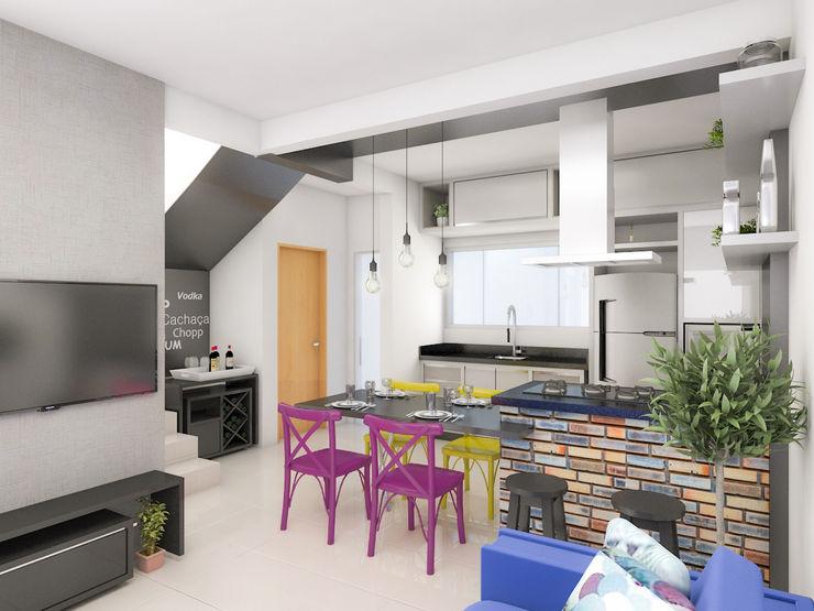 Projeto IT AQUITETURA E INTERIORES Modern dining room
