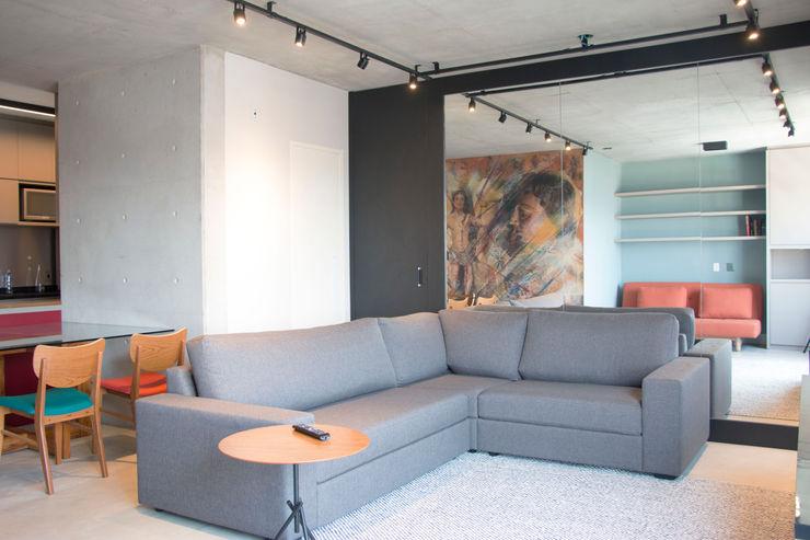 Living MONICA SPADA DURANTE ARQUITETURA Salas de estar modernas
