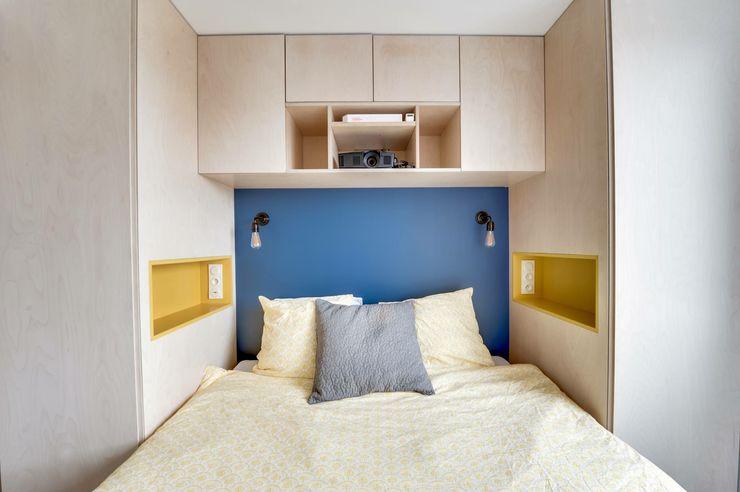 Paris 11 blackStones Chambre scandinave Contreplaqué Bleu