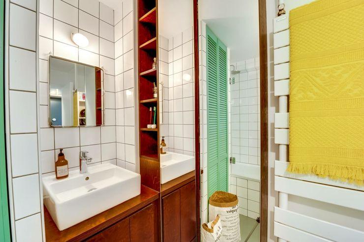 Paris 11 blackStones Salle de bain scandinave Contreplaqué Vert