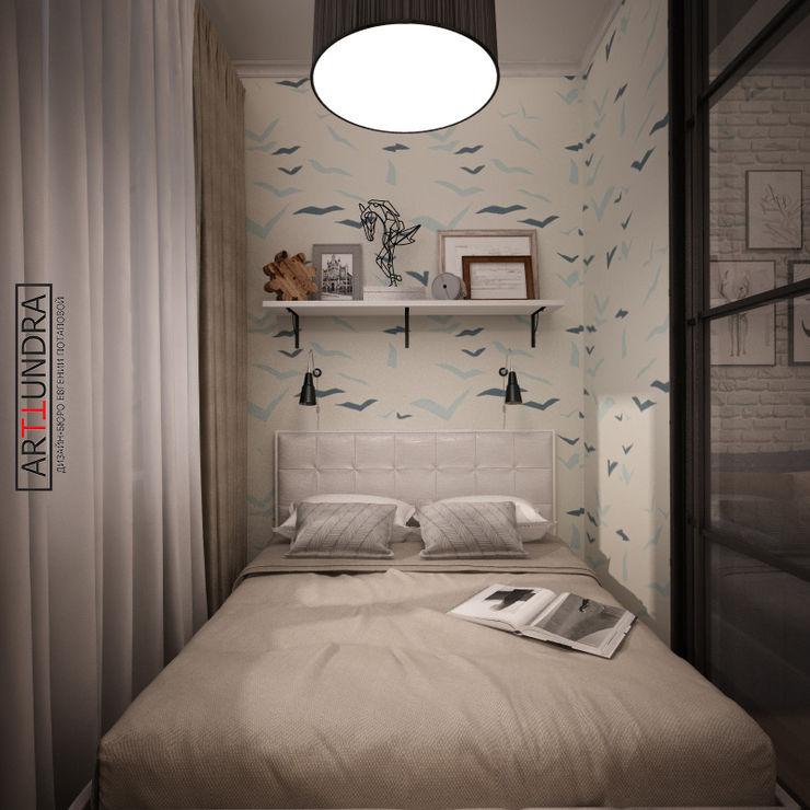 дизайн-бюро ARTTUNDRA Dormitorios de estilo escandinavo Blanco