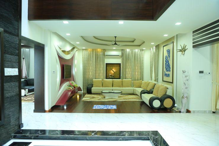 Premdas Krishna Livings de estilo moderno