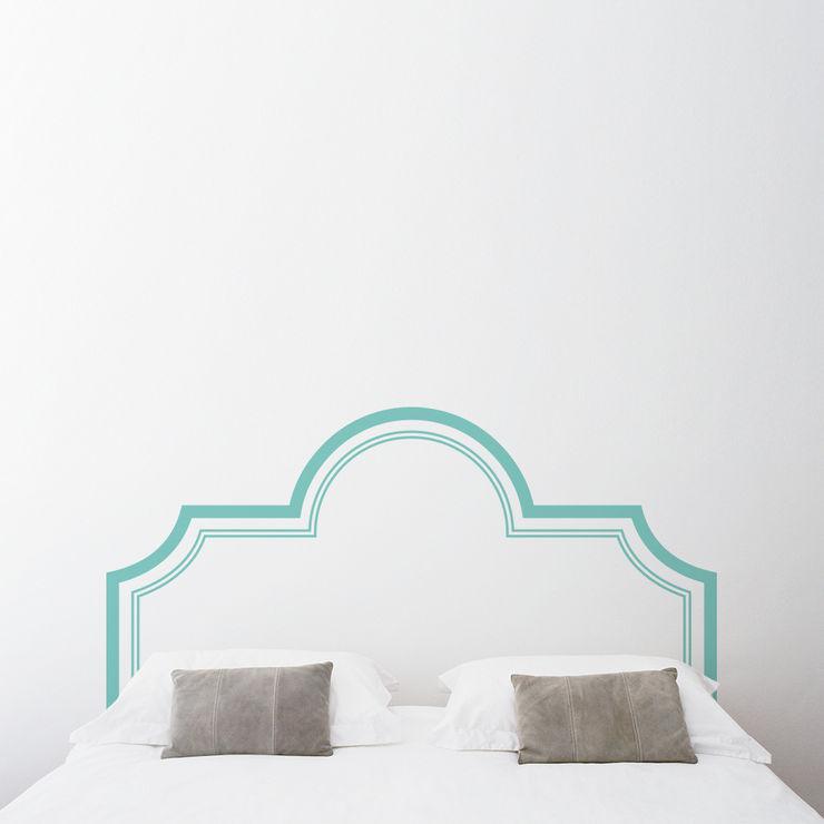 Elegant Headboard Wall Decal Sticker Sirface Graphics Ltd. BedroomBeds & headboards