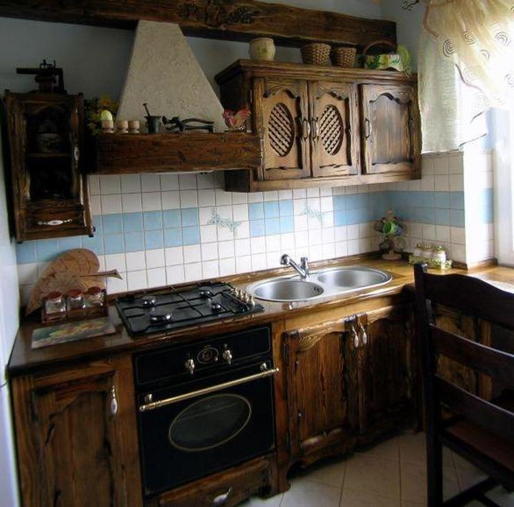Revia Meble i drzwi z litego dębu. Кухня в стиле кантри