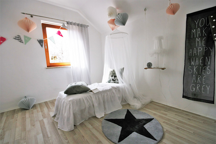 Münchner home staging Agentur GESCHKA Scandinavian style nursery/kids room