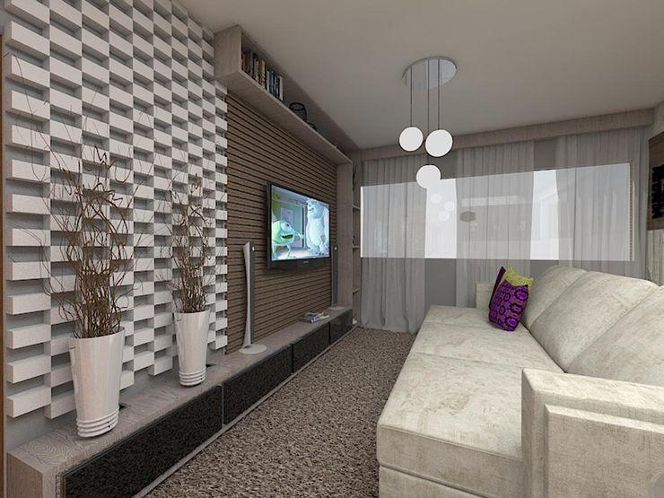 Sala de Estar AL Plano A Studio Salas de estar ecléticas