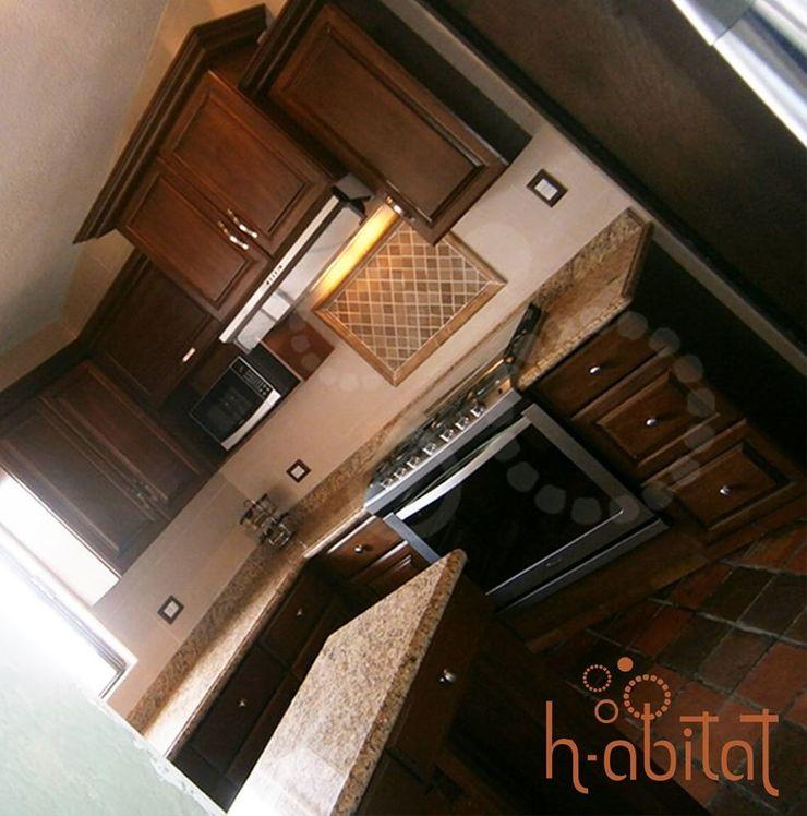 H-abitat Diseño & Interiores Kitchen Wood Wood effect