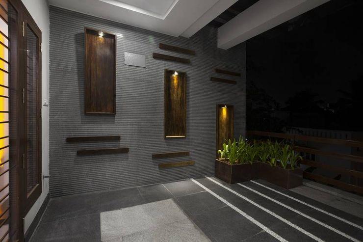 Ansari Architects Moderner Balkon, Veranda & Terrasse