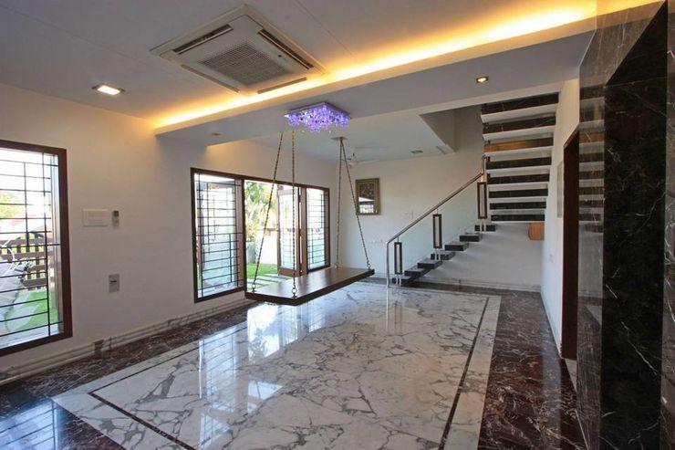 Common area Ansari Architects Modern corridor, hallway & stairs