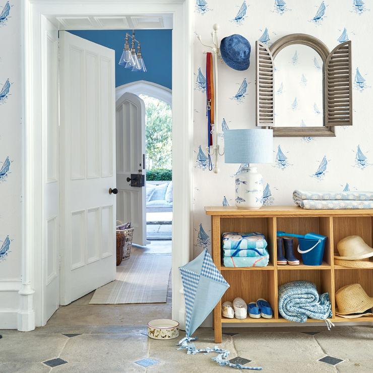 Recibidor Harbour Laura Ashley Decoración Pasillos, vestíbulos y escaleras de estilo mediterráneo Azul