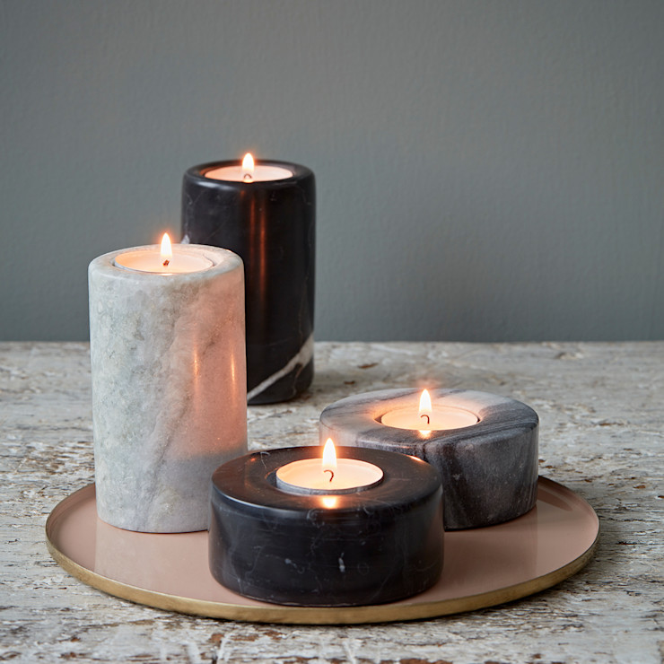 Marble Tealight Holders rigby & mac HouseholdAccessories & decoration Stone