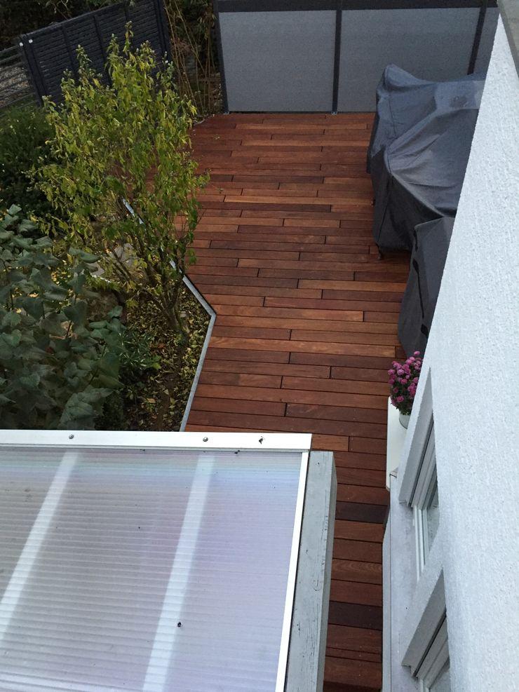 Cumaru Terrassendielen 21 x 120 mm glatt FSC Kahrs GmbH Tropischer Balkon, Veranda & Terrasse Braun