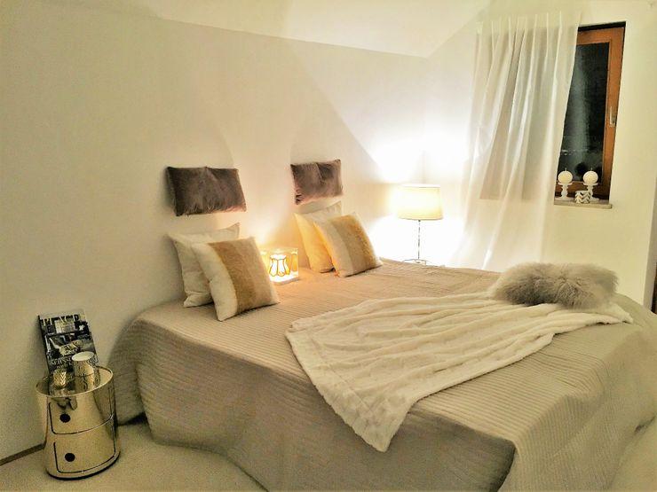 Münchner home staging Agentur GESCHKA Modern style bedroom Beige