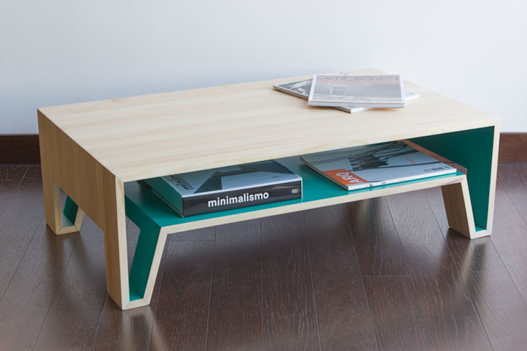 1a10 Design SalasMesas de centro y auxiliares Madera maciza Acabado en madera