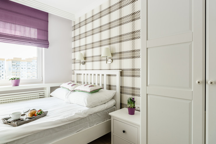 Anna Serafin Architektura Wnętrz Dormitorios de estilo mediterráneo