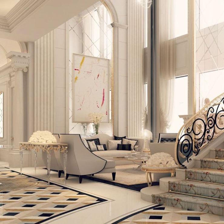 Interior Design & Architecture by IONS DESIGN Dubai,UAE IONS DESIGN Colonial style corridor, hallway& stairs