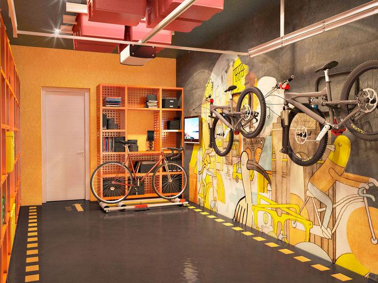 Bronx Garage/Rimessa in stile moderno