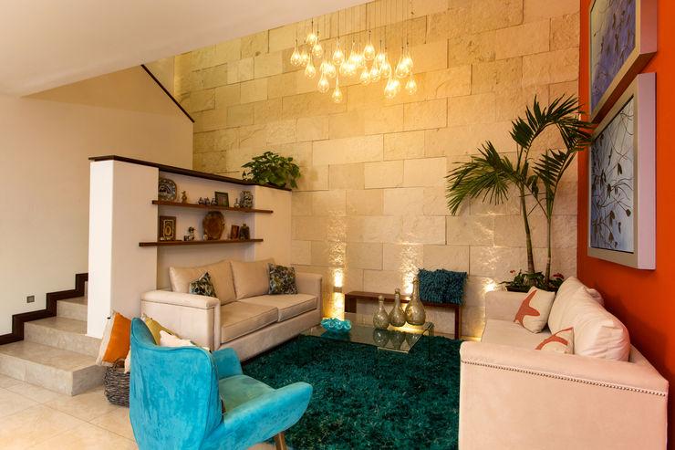Casa Banak Grupo Arsciniest Salas modernas Piedra Blanco