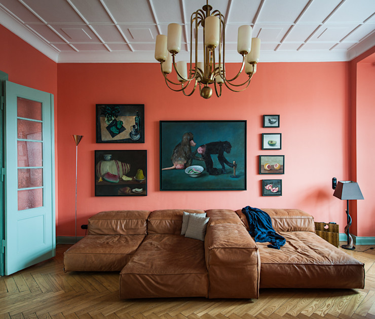 Gisbert Pöppler Architektur Interieur Salon rustique Rouge