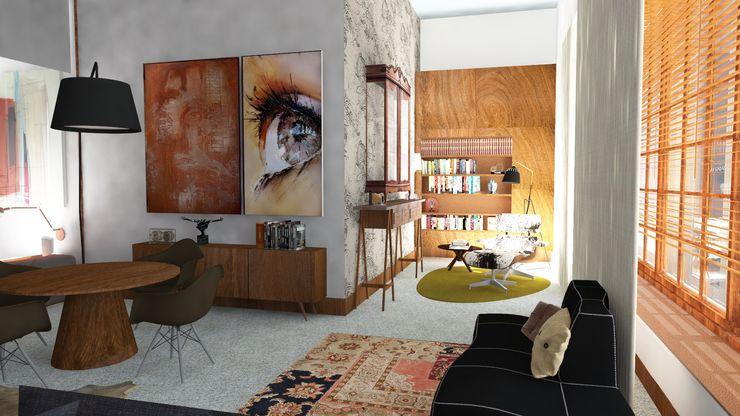 Atmosferas   Projecto de Interiores Paula Gouveia IDesign.art by Paula Gouveia Salas de estar industriais