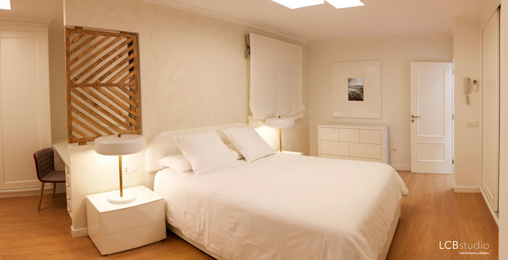 LCB studio Modern style bedroom White