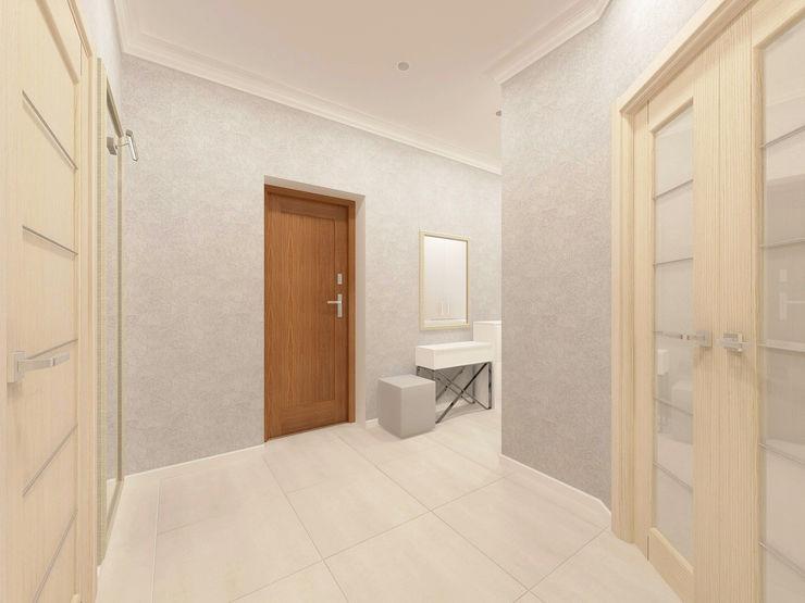 Андреева Валентина Classic style corridor, hallway and stairs