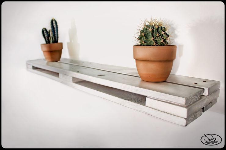 IrekHolzArt Living roomShelves Wood White