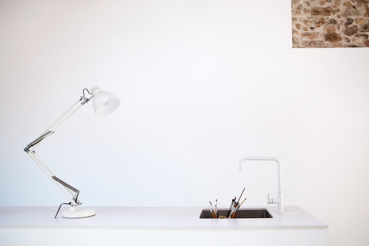 Detalle estudio CABRÉ I DÍAZ ARQUITECTES Estudios y despachos minimalistas