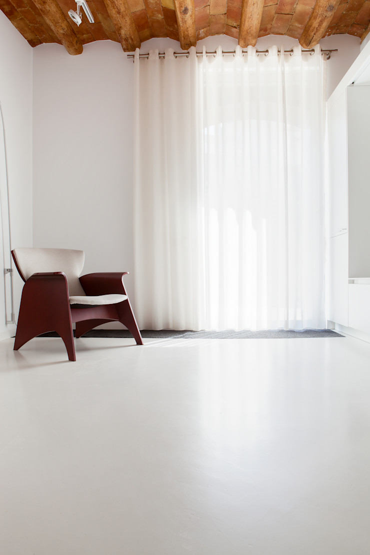 Sala de estar CABRÉ I DÍAZ ARQUITECTES Salones minimalistas