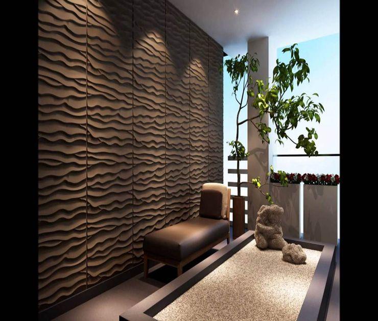 PANEL 3D Ocean homify Paisajismo de interiores Tablero DM Ámbar/Dorado