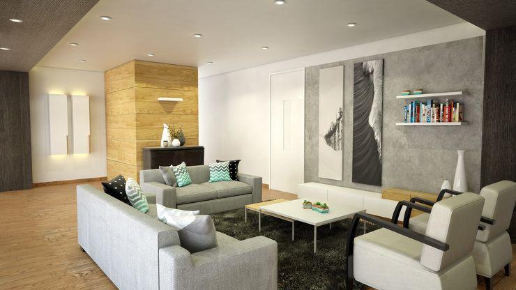 Kuro Design Studio Scandinavian style living room