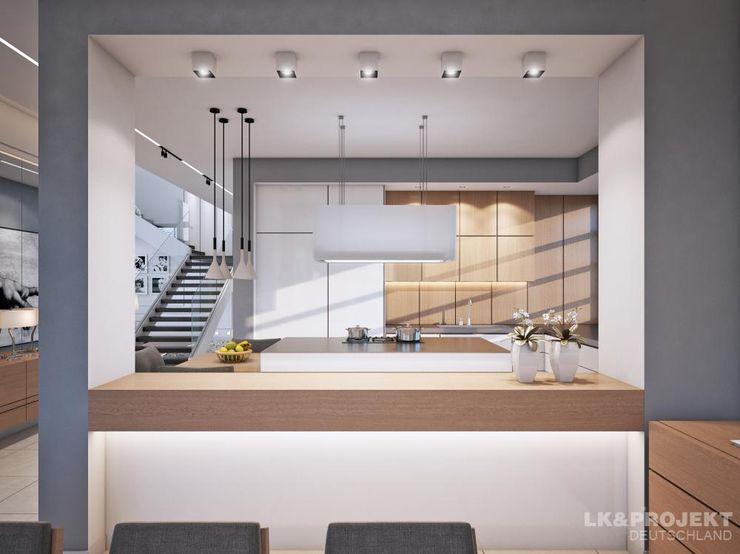LK&Projekt GmbH Pasillos, vestíbulos y escaleras de estilo moderno