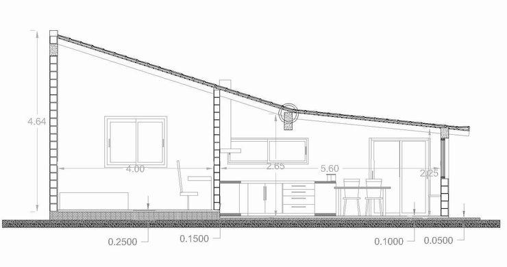 corte transversal de remodelacion Estudio ZP