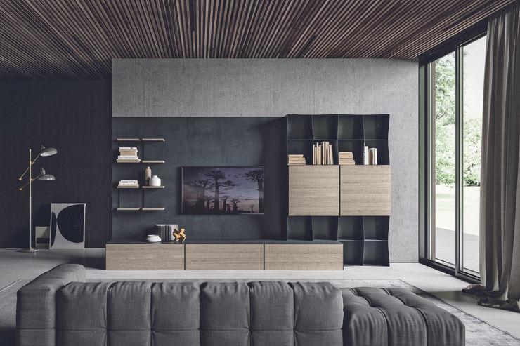 BandIt Design Soggiorno moderno Ferro / Acciaio Grigio