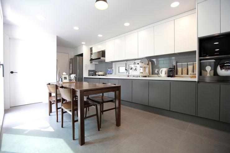 한글주택(주) 現代廚房設計點子、靈感&圖片