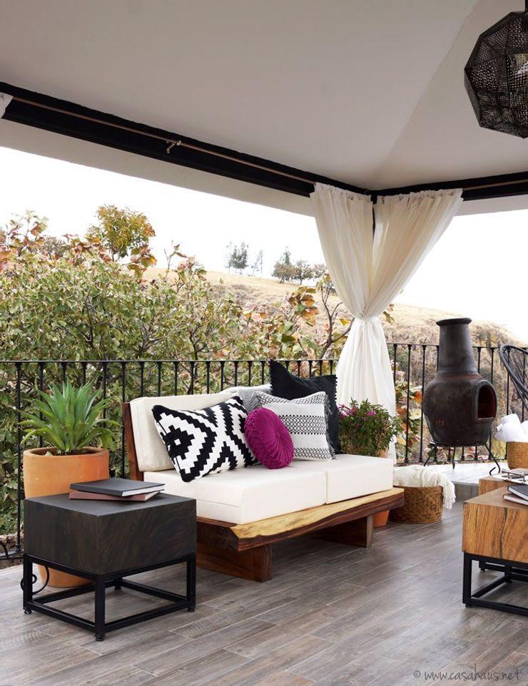 Talisma Modern balcony, veranda & terrace