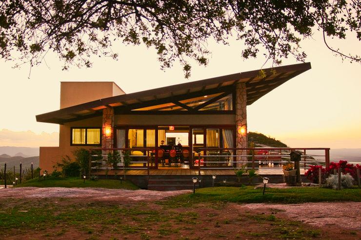 Duo Arquitetura Wiejskie domy Lite drewno